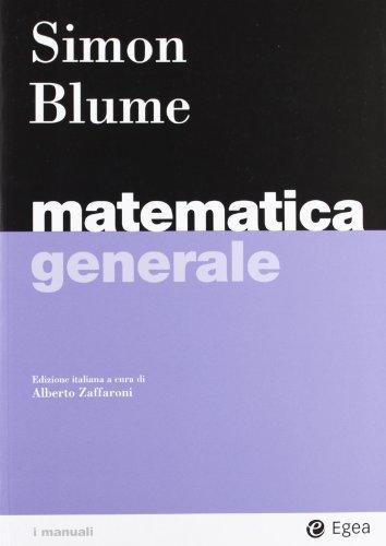 9788823820876: Matematica generale