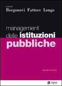 9788823821569: Management delle istituzioni pubbliche (I Manuali)