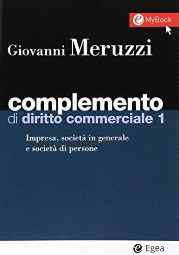 9788823822290: Complemento di diritto commerciale. Con Contenuto digitale per download e accesso on line: 1 (I Manuali)
