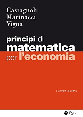 9788823822467: Principi di matematica per economia