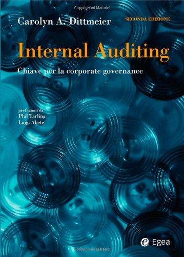 9788823833036: Internal auditing. Chiave per la corporate governance