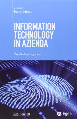 9788823834026: Information technology in azienda. Modelli di management (SDA. Leading management)
