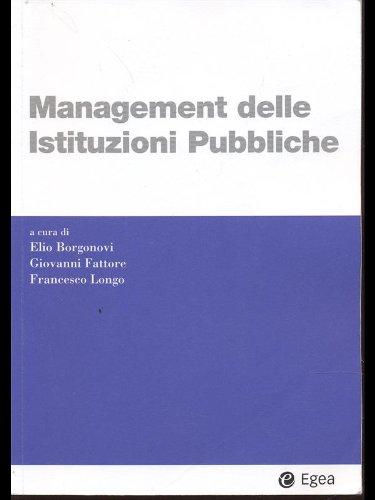9788823891036: Management delle istituzioni pubbliche (I Manuali)