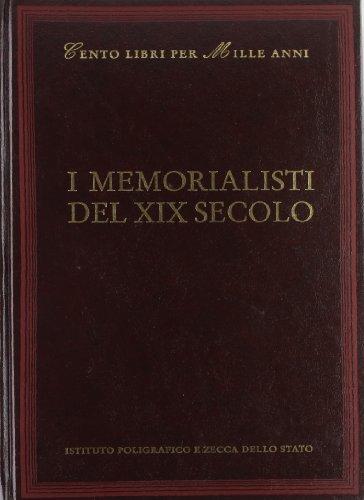 I memorialisti del XIX secolo (Hardback): Luciana Martinelli
