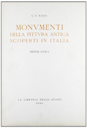 Monumenti della pittura antica scoperti in Italia. Programma.: Rizzo,Giulio Emanuele.