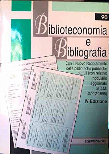9788824409070: Biblioteconomia e bibliografia (Pubblicazioni giuridiche)