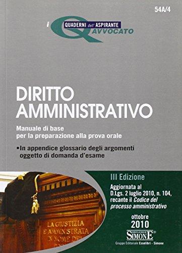 Diritto amministrativo. Manuale di base per la