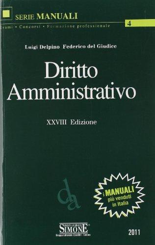 DIRITTO AMMINISTRATIVO: DELPINO LUIGI -