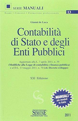 9788824458658: Contabilità di Stato e degli enti pubblici