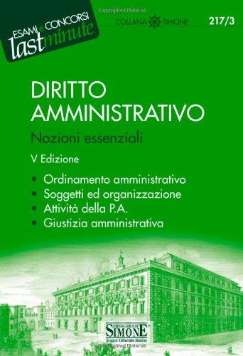 9788824458993: Diritto amministrativo. Nozioni essenziali