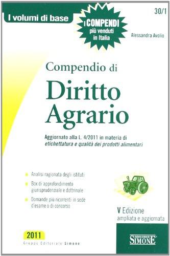 9788824459556: Compendio di diritto agrario