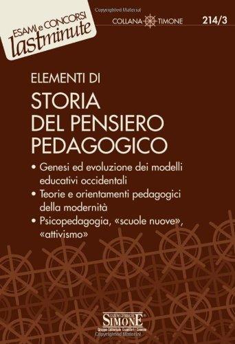 9788824462518: Elementi di storia del pensiero pedagogico
