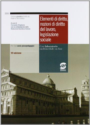 Elementi di diritto, nozioni di diritto del: Vitagliano, Fernanda; Malinverni;