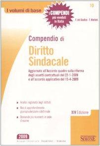 9788824468046: Compendio di diritto sindacale (I volumi di base)