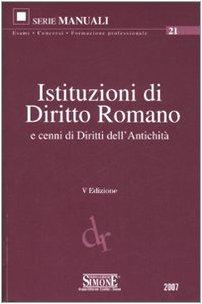 Istituzioni di diritto romano e cenni di
