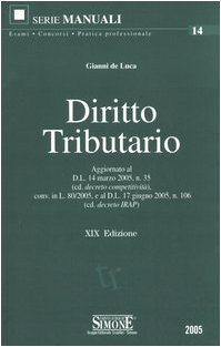 Diritto tributario: De Luca, Gianni