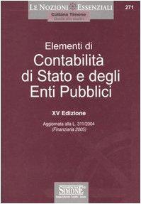 9788824482509: Elementi di contabilità di Stato e degli enti pubblici