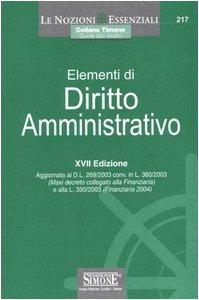 Elementi di diritto amministrativo: Elementi di diritto