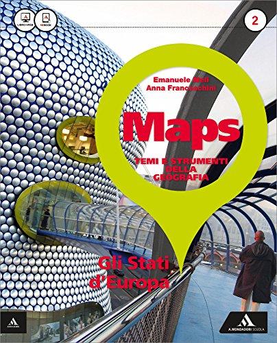 9788824750264: Maps. Per la Scuola media. Con e-book. Con espansione online. Gli stati d'Europa-Glossario multilingue atlante (Vol. 2)