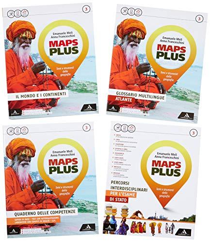 9788824761673: Maps plus. Fascicolo-Atlante-Preparazione esame. Per la Scuola media. Con e-book. Con 2 espansioni online: 3