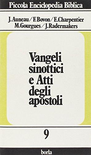 9788826303390: Vangeli sinottici e Atti degli apostoli (Piccola enciclopedia biblica)