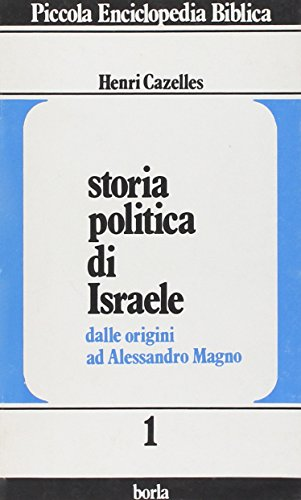 9788826304373: Storia politica di Israele: dalle origini ad Alessandro Magno