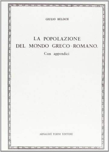 9788827181034: La popolazione del mondo greco-romano