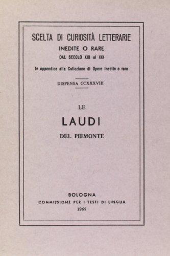 Le laudi del Piemonte (rist. anast.).: aa.vv.