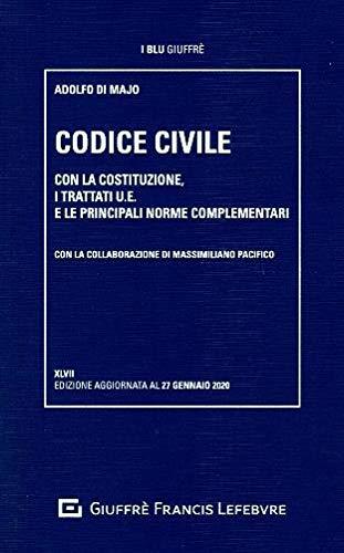 9788828817710: Codice civile. Con la Costituzione, i trattati U.E. e le principali norme complementari