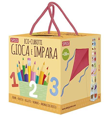 9788830302839: Gioca e impara. Numeri, forme, colori, animali. Eco-cubotti. Ediz. a colori. Con gadget