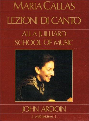 9788830408548: Maria Callas: lezioni di canto