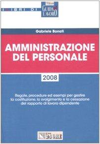 9788832466355: Amministrazione del personale