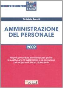 9788832471717: Amministrazione del personale