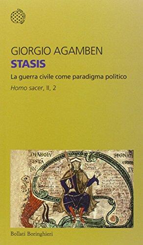 9788833925875: Stasis. La guerra civile come paradigma politico. Homo sacer: II\2 (Temi)