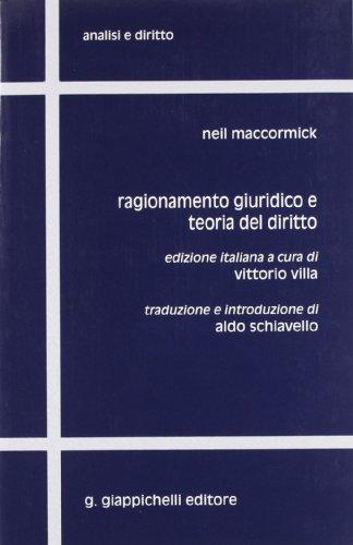 Ragionamento giuridico e teoria del diritto (9788834806951) by [???]