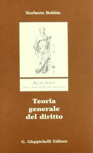 9788834830710: Teoria generale del diritto (Recta ratio) (Italian Edition)