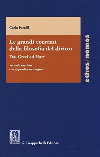 Le grandi correnti della filosofia del diritto.: Faralli, Carla