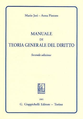 9788834850688: Manuale di teoria generale del diritto