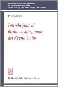9788834856079: Introduzione al diritto costituzionale del Regno Unito