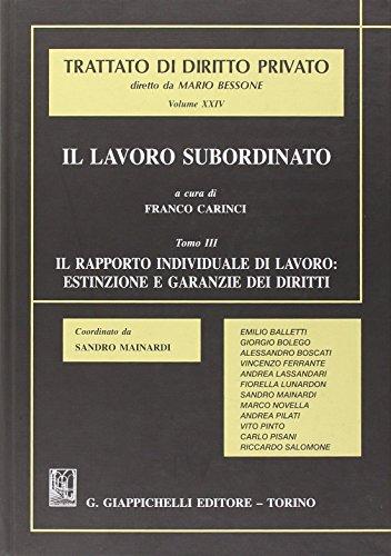 Il lavoro subordinato (Hardback): F. Carinci