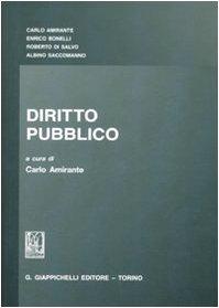 DIRITTO PUBBLICO: AMIRANTE CARLO BONELLI