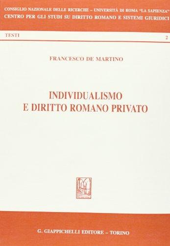 9788834880746: Individualismo e diritto romano privato