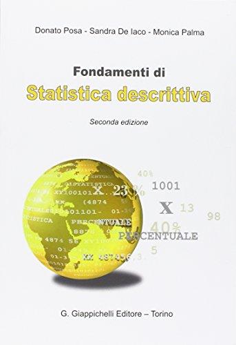 9788834886724: Fondamenti di statistica descrittiva