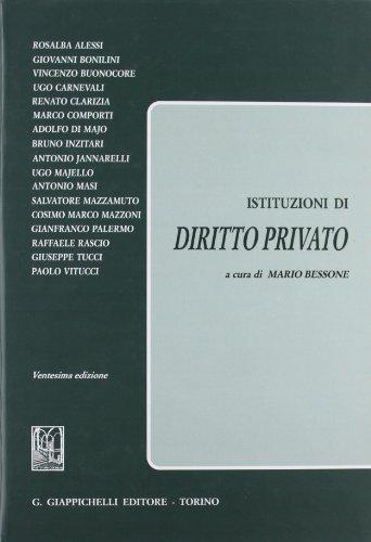 9788834889114: Istituzioni di diritto privato