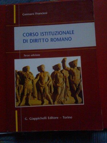 9788834891599: Corso istituzionale di diritto romano