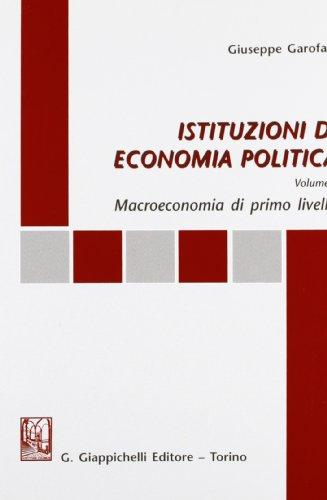 Istituzioni di economia politica, vol. I: G. Garofalo