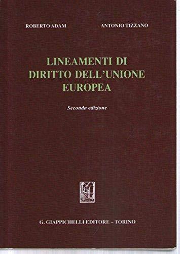 9788834898949: Lineamenti di diritto dell'Unione Europea