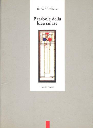 9788835935551: Parabole della luce solare