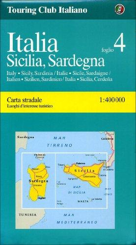 9788836522446: Italy, Sicily/Sardinia 4 {Sicilia/Sardegna} (Regional Maps)