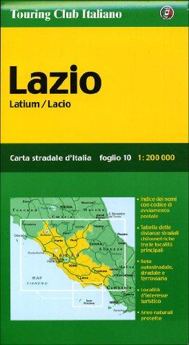 Lazio. Latium / Lacio. Carta stradale d': Touring Club Italiano